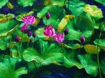 Olieverfschilderij - Boerenkinkels Royalty-vrije Stock Afbeeldingen
