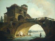 Olieverfschilderij: Hubert Robert royalty-vrije stock foto's