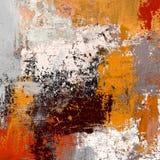 Olieverfschilderij op met de hand gemaakt canvas Abstracte kunsttextuur Kleurrijke textuur modern kunstwerk Slagen van vette verf stock illustratie