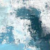 Olieverfschilderij op met de hand gemaakt canvas Abstracte kunsttextuur Kleurrijke textuur modern kunstwerk Slagen van vette verf vector illustratie