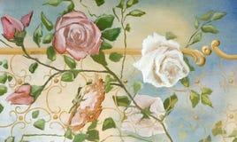 Olieverfschilderij in oude stijl stock illustratie