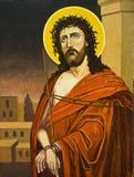 Olieverfschilderij van Christus Stock Afbeeldingen