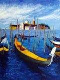 Olieverfschilderij - Venetië, Italië Stock Foto's