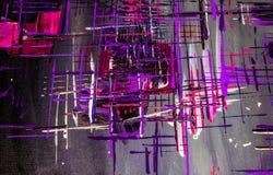 Olieverfschilderijabstractie, heldere kleuren Achtergrond Royalty-vrije Stock Afbeeldingen