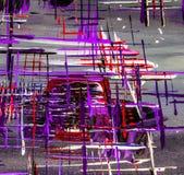 Olieverfschilderijabstractie, heldere kleuren Achtergrond Stock Foto