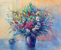 Olieverfschilderijbloemen Stock Fotografie