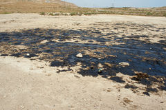 Olievlekken ter plaatse Suraxanı azerbaijan Royalty-vrije Stock Foto