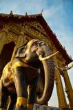 Olifant in de tempel, godsdienstig symbool Stock Foto's
