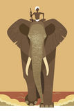 Olifant en mahout Stock Afbeeldingen