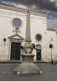 Olifant en Obelisk in Piazza della Minerva, Rome Royalty-vrije Stock Foto's