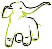 Olifant - getrokken hand stock illustratie