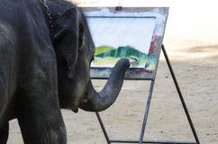 Olifant het schilderen beeld Stock Foto's