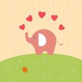 Olifant met harten Stock Afbeeldingen
