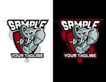 olifant in moderne dierlijke mascotte voor esportembleem en t-shirtillustratie Royalty-vrije Stock Afbeeldingen