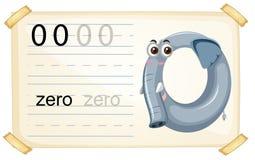 Olifant nul aantalaantekenvel royalty-vrije illustratie