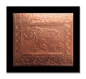 Olifant op een Koperblad dat in reliëf wordt gemaakt royalty-vrije stock afbeelding