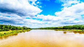 The Olifants River near Kruger National Park in South Africa. The Olifants River near Kruger Park and Phalaborwa on the border between Limpopo and Mpumalanga royalty free stock photo