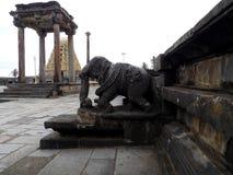 Olifantsbeeldhouwwerk bij de tempel van Chenna Keshava, India Royalty-vrije Stock Fotografie