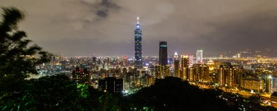 Olifantsberg, het beste meningspunt van de Stad van Taipeh Royalty-vrije Stock Fotografie