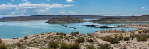 Olifantsbutte Meer in New Mexico Stock Afbeeldingen