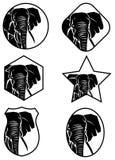 Olifantspictogram vector illustratie