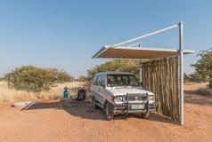 Olifantsrus休宿所的露营地 免版税库存图片