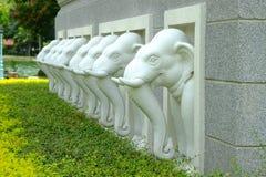 Olifantsstandbeeld in Hall Buddha, Thailand Stock Fotografie
