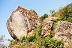 Olifantsstandbeeld in Mingun, Myanmar Stock Afbeeldingen