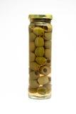 Olijf in glas Royalty-vrije Stock Afbeeldingen