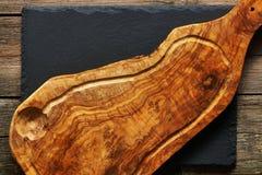 Olijf houten scherpe raad Royalty-vrije Stock Afbeelding