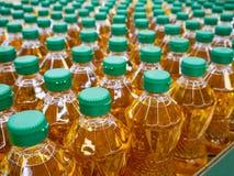 Olijfolie en de olieflessen van de Zonnebloem Royalty-vrije Stock Afbeeldingen