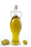 Olijfolie en olijven Stock Afbeelding