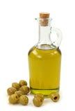 Olijfolie en olijven Royalty-vrije Stock Afbeeldingen