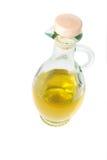 Olijfolie in karaf Stock Fotografie