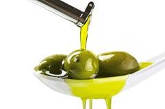 Olijven en olie stock foto's