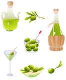 Olijven en olijfolie vector illustratie
