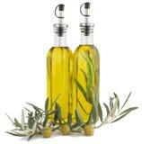 Olijven en olijfolie. Stock Foto