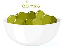Olijven in Kom vector illustratie