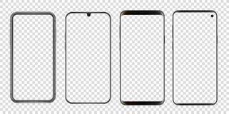 Olik abstrakt modern smartphonesvektormodell stock illustrationer