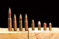 olik ammo Royaltyfri Fotografi