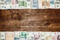 Olik bakgrund för pappers- pengar för värld Royaltyfria Foton