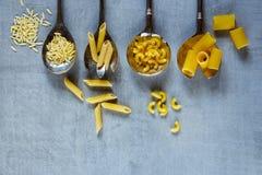 Olik blandning av pasta Royaltyfria Foton