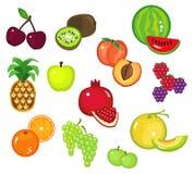 olik del för 2 frukter Arkivfoto