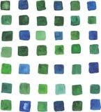 Olik färg för abstrakta fyrkanter för mosaikbakgrund ofmany av gräsplan Royaltyfria Bilder