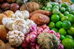 Olik färgrik grönsak som matlagningkryddor Royaltyfria Foton