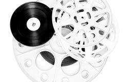 Olik filmfilmrulle som isoleras på vit Royaltyfria Foton