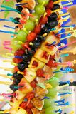 olik fruktgelé arkivbilder