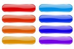 olik glass god kvalitet för knappfärger Skinande kulöra symboler för oval 3d med reflexion vektor illustrationer