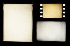 olik grungy set för filmramar Fotografering för Bildbyråer