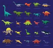 Olik illustration för vektor för tecknad film för dinosauriesidosikt Arkivfoto
